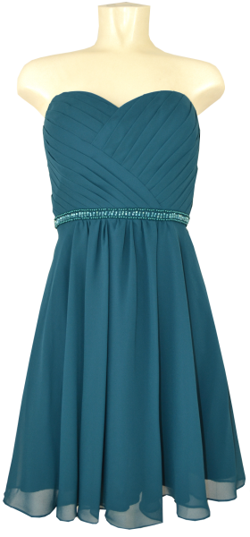 Cocktailkleid in ocean teal