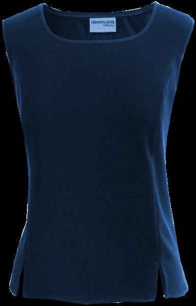 Top mit Schlitzen in marine blau