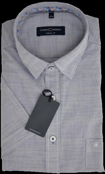 1/2 Arm Freizeithemd in blau-grau mit Struktur