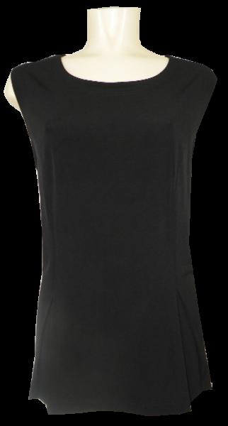 Top in schwarz mit leicht überschnittenem Arm