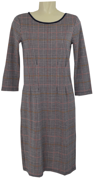 Jersey Kleid in check jacquard