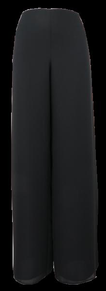 Marlene oder Gauchohose in uni schwarz
