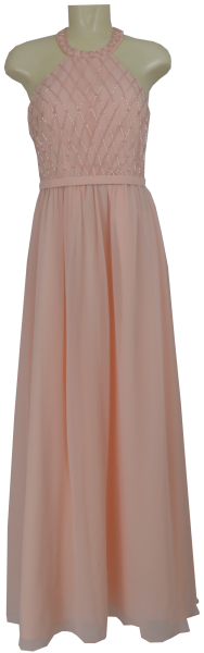 Langes Chiffon Ballkleid in rose blush