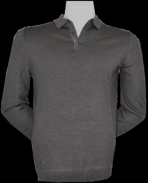 Pullover mit Kragen in braun meliert