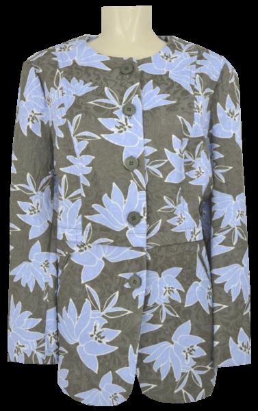 Longblazer in bleu-khaki