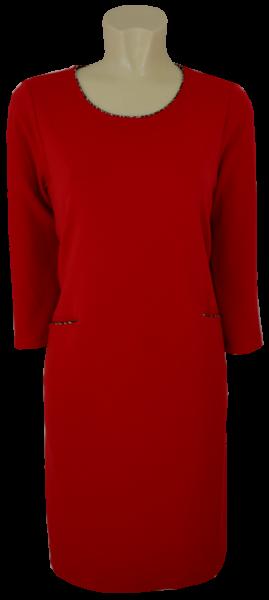 Mittellanges Kleid in red