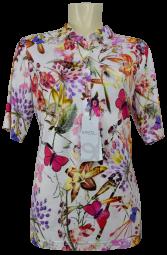 1/2 Arm Blusen-Shirt in allover floral gemustert