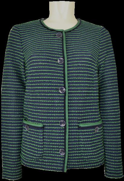 Blazer Jacke in marine-blau mit grün gemustert