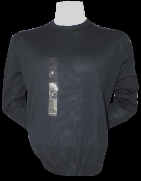 Pullover mit Rundhals in dunkel Blau
