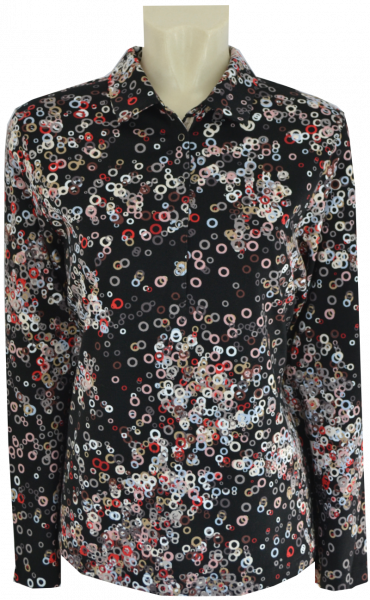 1/1 Arm Polo Shirt in mehrfarbig gemustert