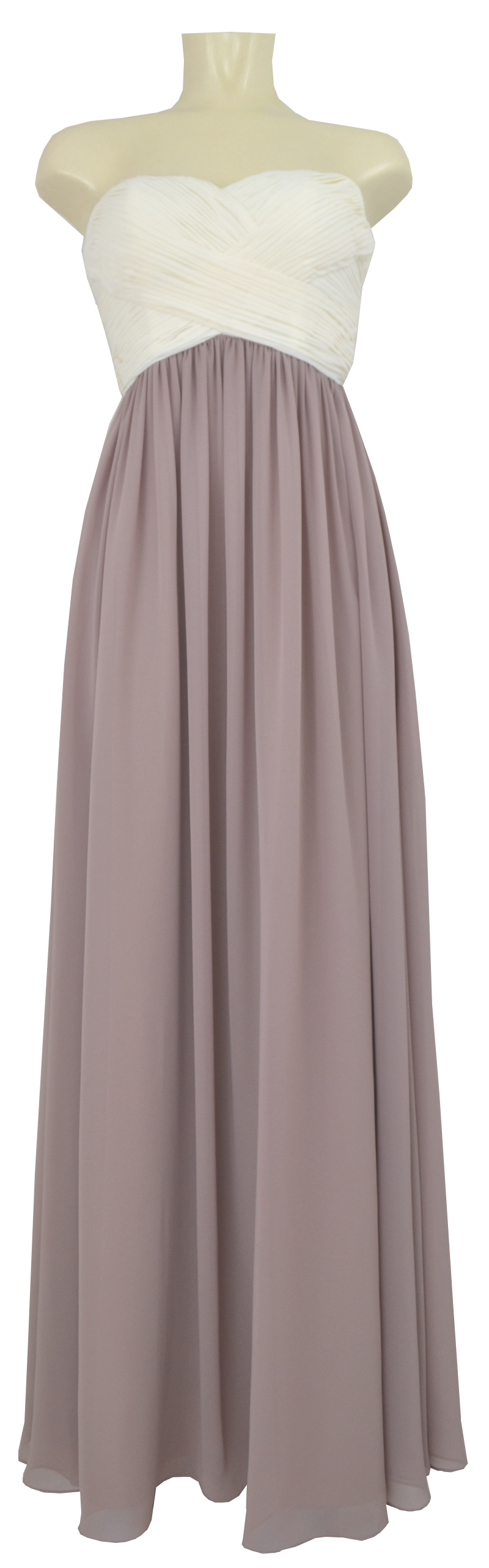 Langes Kleid Der Marke Laona Aus Chiffon In New White Taupe Mode Dasenbrock