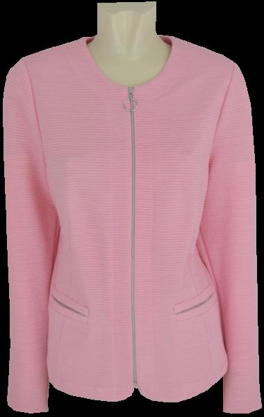 Leichte Jersey Jacke in rose