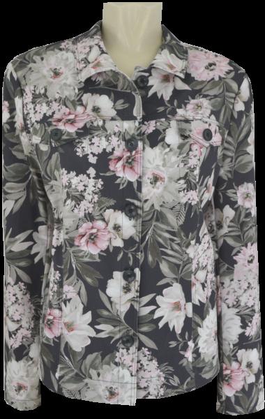 Blazer Jacke in floral gemustert