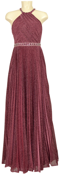 Langes Ballkleid mit Glanz in burgundy