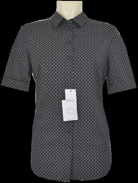 1/2 Arm Bluse in schwarz-weiß gemustert