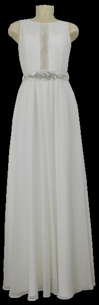 Langes Hochzeitskleid mit Spitze in ivory white