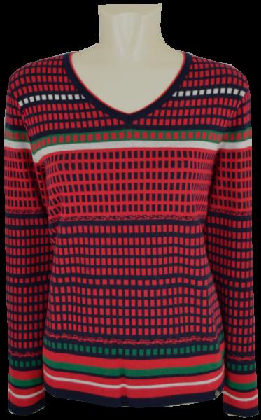 Pullover mit 1/1 Arm in mehrfarbig gemustert