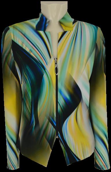 Elegante Jacke in multicolor mit schwarz