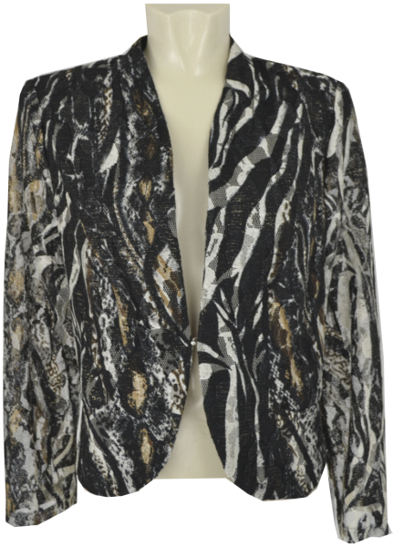 Elegante Kurzjacke in schwarz-beige