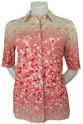 1/2 Arm Bluse in floral gemustert
