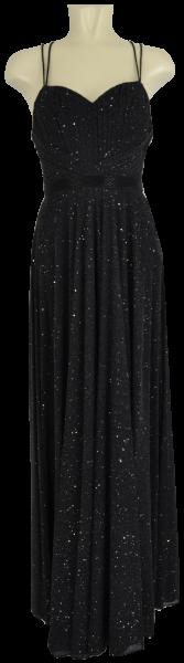 Ballkleid lang in schwarz mit Glanz