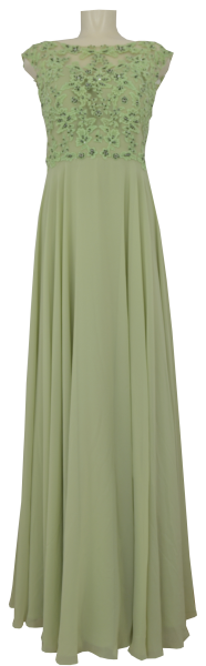 Langes Ballkleid in Pistachio