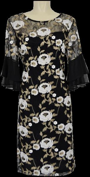 Mittellanges festliches Kleid mit 3/4 Arm