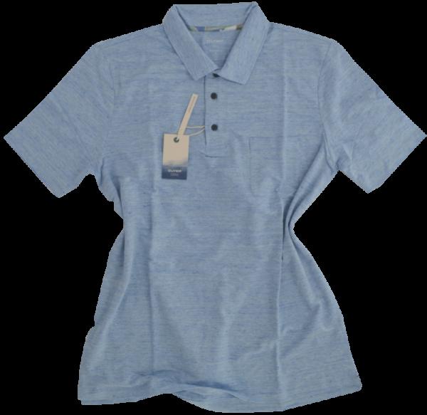 1/2 Arm Polo Shirt in bleu meliert