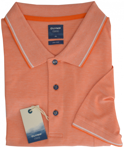 1/2 Arm Polo Shirt in orange meliert