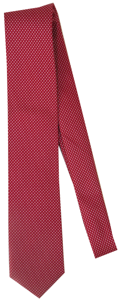 Krawatte reine Seide in Rot mit Mini Karo