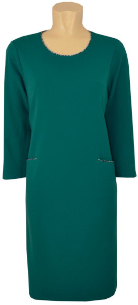 Mittellanges Kleid in teal