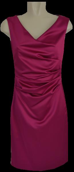 Mittellanges Etuikleid in berry pink