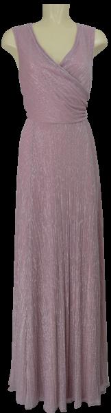 Langes Ballkleid mit Glanz in rose-silver