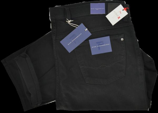 Bequeme Kurzleib Jeans in schwarz
