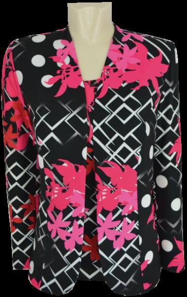Twin-Set in mehrfarbig gemustert mit pink