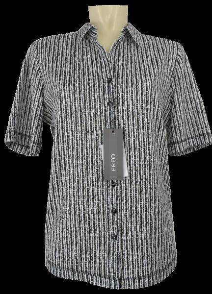 1/2 Arm Bluse in schwarz-grau-weiß
