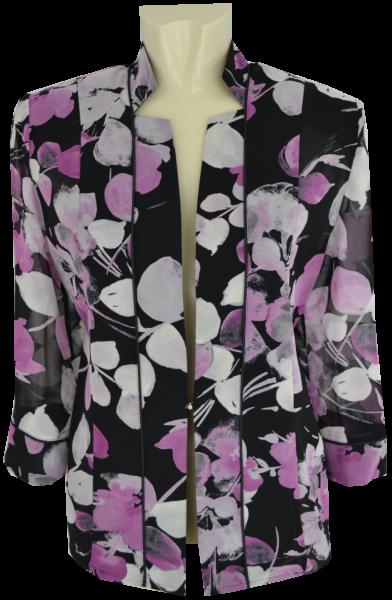 Blazer Jacke in mehrfarbig gemustert mit pink