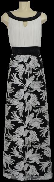 Collierkleid in schwarz-offwhite