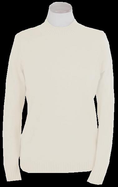 Pullover mit Stehbund in wollweiß