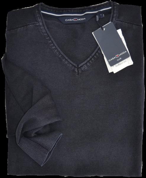 Pullover mit V-Ausschnitt in dunkel blau