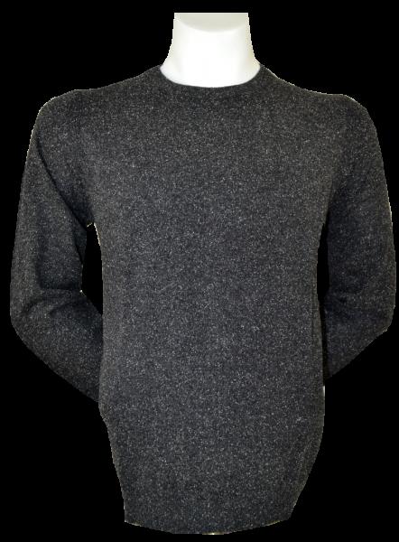 Pullover mit rundem Ausschnitt in anthra meliert