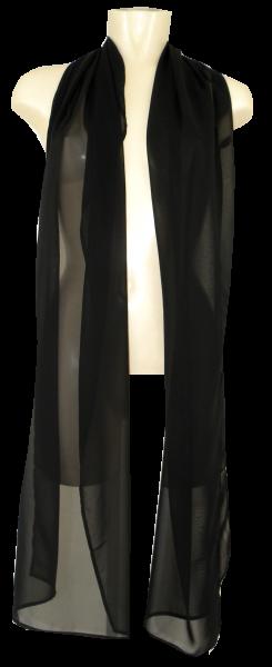 Chiffon Schal in Schwarz