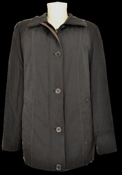 Warme Outdoor Jacke in schwarz