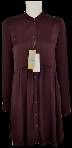 Viscose Kleid in uni chestnut