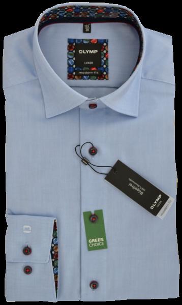 Business -und Freizeithemd in bleu mit Ausschmückung