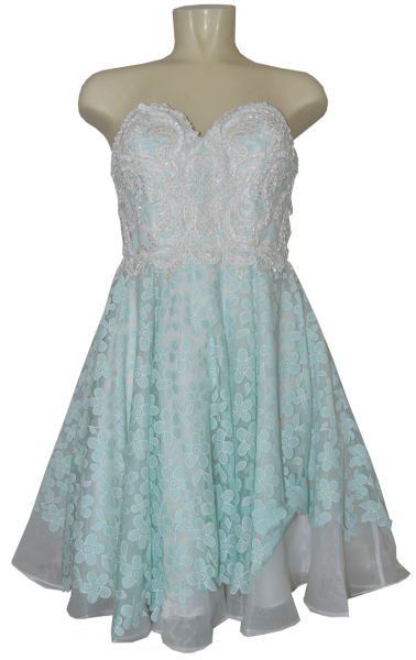 Cocktailkleid in white-mint