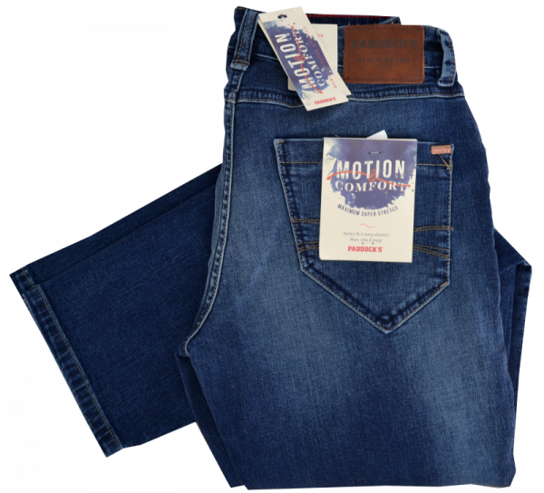 JEANS BEN in low rise blue