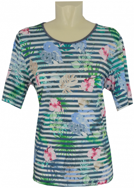 1/2 Arm T-Shirt in allover floral gemustert