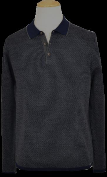 Pullover mit Kragen mit dezentem Muster