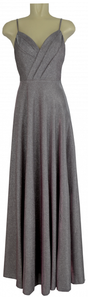 Ballkleid lang in rose-grey mit Glanz
